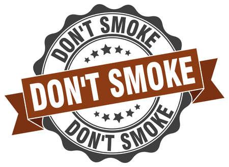 niet roken stempel. teken. zeehond Vector Illustratie