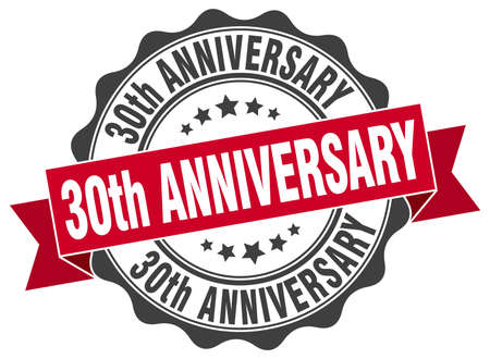 30th: 30th anniversary stamp. sign. seal