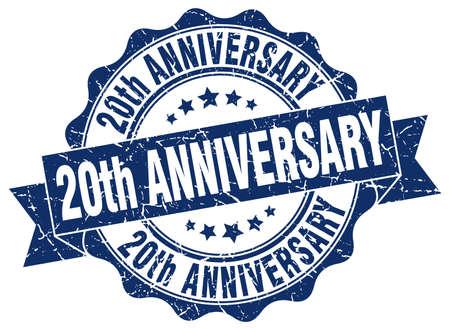 20 ° anniversario timbro. segno. foca