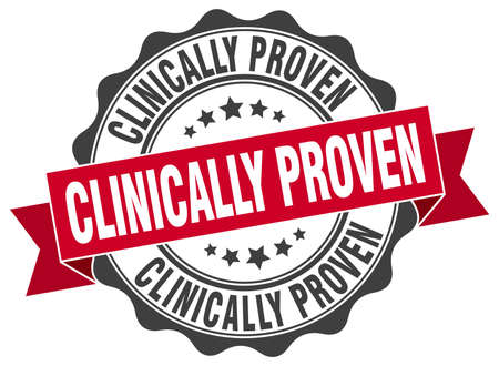 clinically: clinically proven stamp. sign. seal