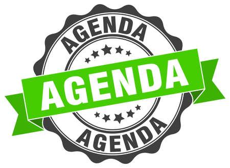 agenda: agenda stamp. sign. seal
