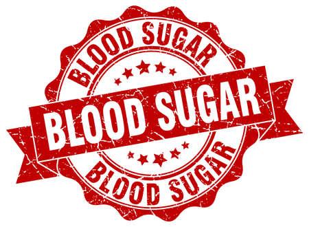 blood sugar: blood sugar stamp. sign. seal