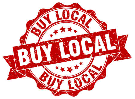 local: buy local stamp. sign. seal