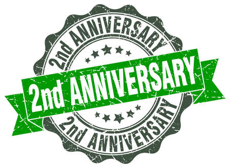 2nd: 2nd anniversary stamp. sign. seal