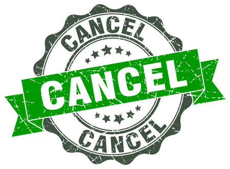 cancel stamp. sign. seal Illustration