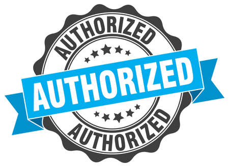 authorized: authorized stamp. sign. seal Illustration