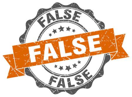 falso: falso sello. firmar. sello