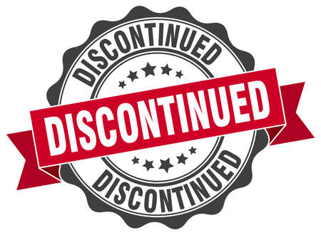 discontinued: discontinued stamp. sign. seal