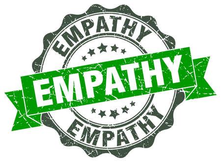 empatia: sello de la empatía. firmar. sello