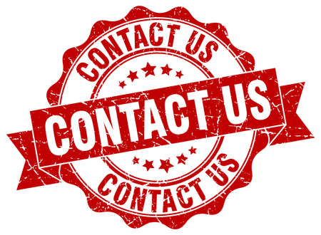 contact us: contact us stamp. sign. seal