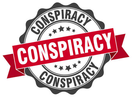 conspiracy stamp. sign. seal Illustration