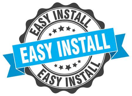 easy install stamp. sign. seal Illustration