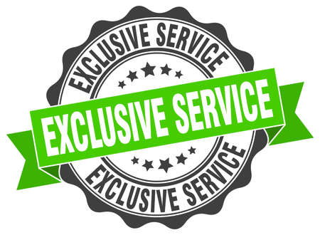 exclusive: exclusive service stamp. sign. seal