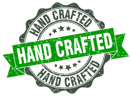 hand crafted stamp. sign. seal Illustration