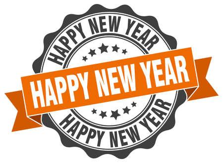 happy new year stamp: happy new year stamp. sign. seal