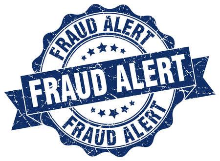 fraud alert stamp. sign. seal Illustration