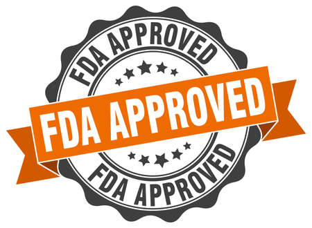 approved sign: fda approved stamp. sign. seal