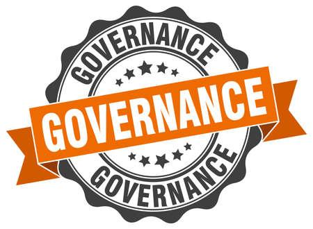 timbre de gouvernance. signe. joint Vecteurs