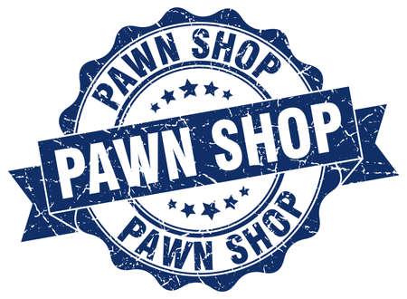 pawn shop stamp. sign. seal Illustration