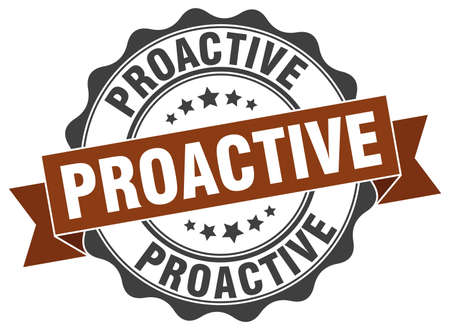 proactive: proactive stamp. sign. seal