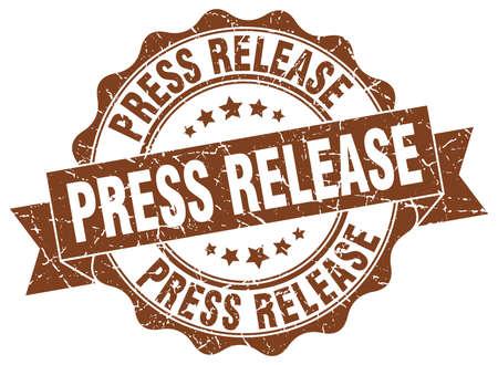 release: press release stamp. sign. seal Illustration