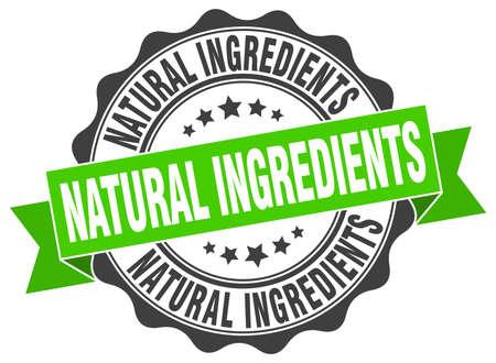 natural ingredients stamp. sign. seal Vector Illustration