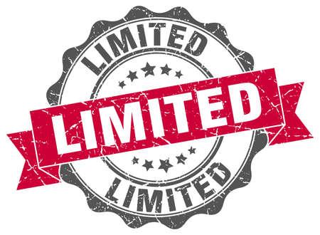 limited: limited stamp. sign. seal Illustration
