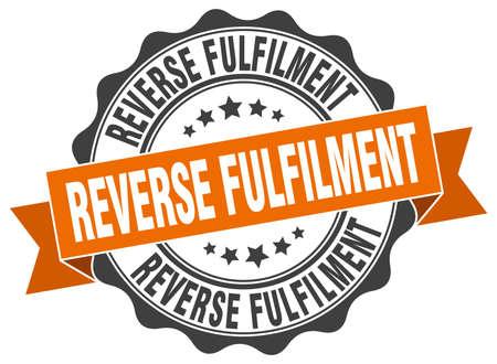 fulfilment: reverse fulfilment stamp. sign. seal