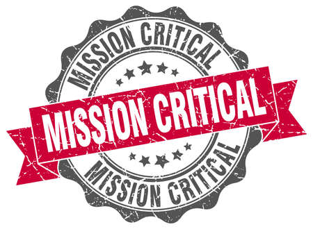 critical: mission critical stamp. sign. seal