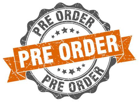 pre order stamp. sign. seal Illustration