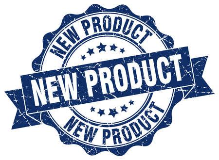nieuw product stamp. teken. zeehond