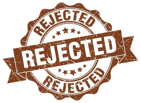 rejected: rejected stamp. sign. seal Illustration