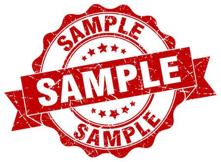 sample: sample stamp. sign. seal