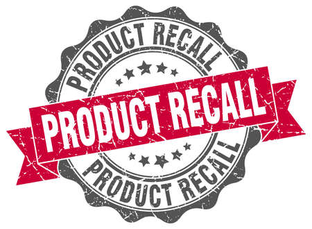 recall: product recall stamp. sign. seal