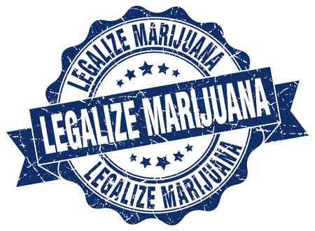 legalize: legalize marijuana stamp. sign. seal