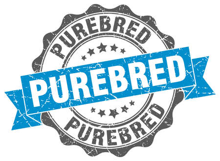 purebred: purebred stamp. sign. seal