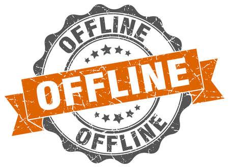 offline stamp. sign. seal Illustration