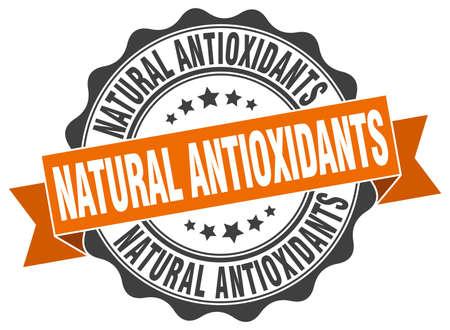 antioxidants: natural antioxidants stamp. sign. seal