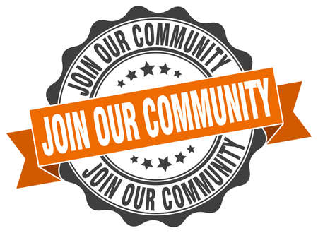 our: join our community stamp. sign. seal