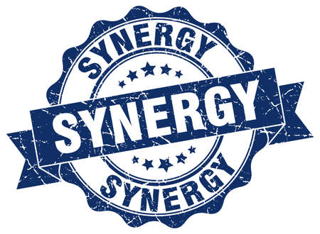 sinergia: sello de sinergia. firmar. sello