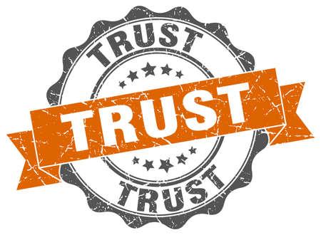 trust: trust stamp. sign. seal Illustration