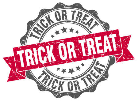 trick: trick or treat stamp. sign. seal