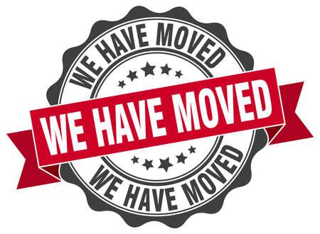 we have moved stamp. sign. seal Illustration