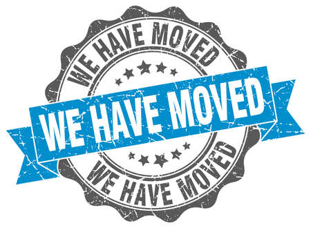 we have moved: we have moved stamp. sign. seal Illustration