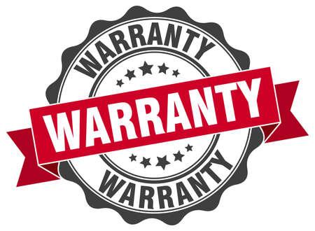 warranty: warranty stamp. sign. seal