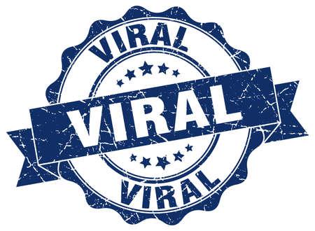 viral stamp. sign. seal Vektorové ilustrace