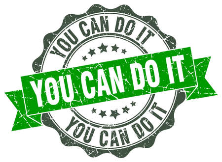 you can do it stamp. sign. seal Vetores