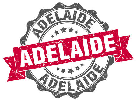 adelaide: Adelaide round ribbon seal Illustration