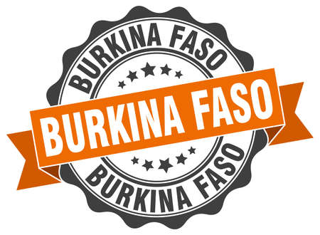 burkina faso: Burkina Faso round ribbon seal