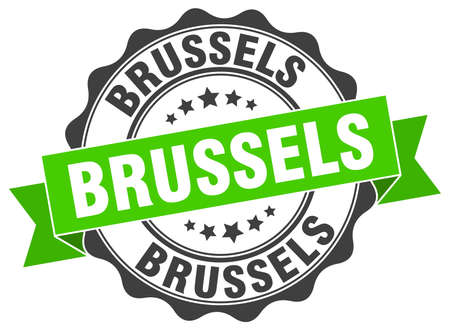 Brussels round ribbon seal Illustration